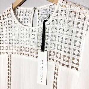 English Factory White Long Sleeve Shift Dress